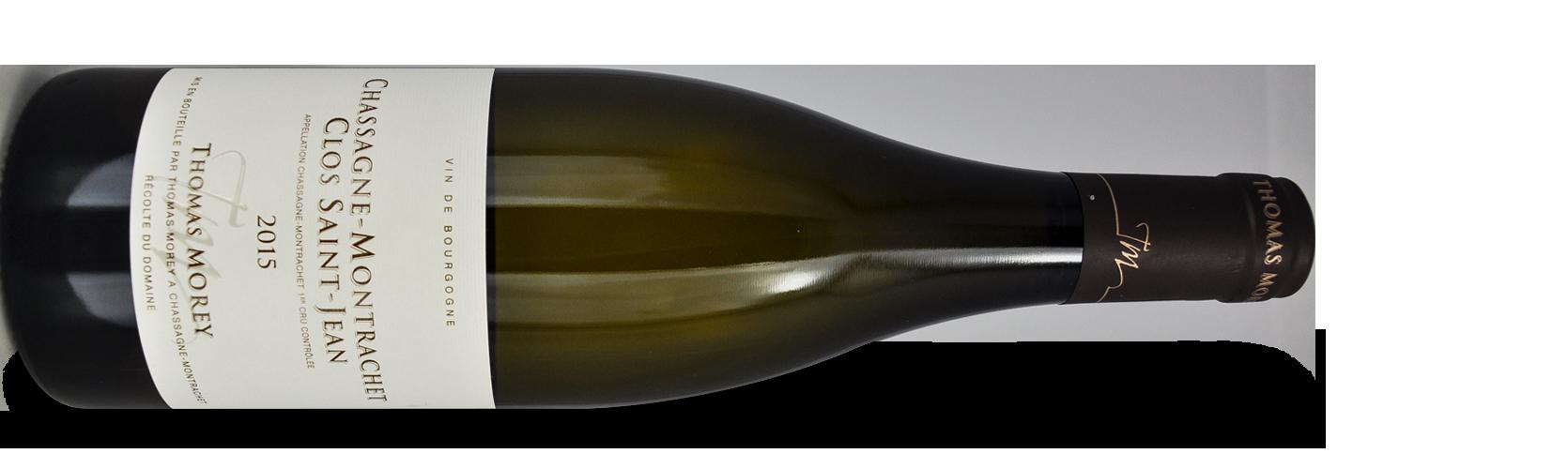 """Thomas MOREY, Chassagne-Montrachet 1er Cru """"CLOS SAINT-JEAN"""" 2015"""